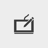 Digital Drawing Board icon in black color. Vector illustration eps10 Royalty Free Stock Photos