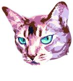 Digital drawing cat head Royalty Free Stock Photo