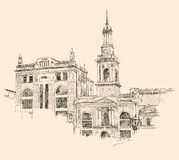 Digital drawing of Kiev historical building Stock Photography