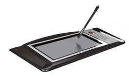 Digital drawing tablet on white Royalty Free Stock Image