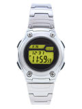 Digital Dress Watch with yellow face. Digital Dress Watch with red face on white stock photo