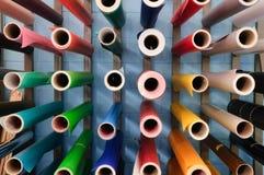 Digital-Drucken - anhaftendes Papier Stockbild