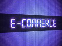 Digital e-commerce word Stock Images