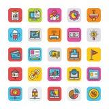 Digital e le icone di vettore di vendita di Internet hanno messo 8 illustrazione vettoriale