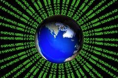 Digital earth Stock Image