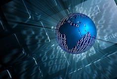 Digital earth. Concept 3D image vector illustration