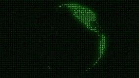 Digital Earth - Data Code Matrix Intro Stock Images