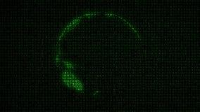 Digital Earth (Loop) Data Code Matrix Royalty Free Stock Photos