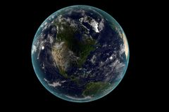 Digital Earth in Motion. Nice 3D Rendering Royalty Free Stock Photos
