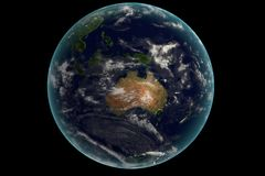 Digital Earth in Motion. Nice 3D Rendering Royalty Free Stock Images