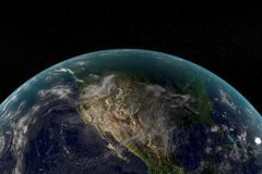Digital Earth in Motion. Nice 3D Rendering Royalty Free Stock Image