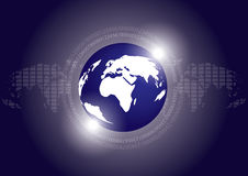 Digital Earth Technology Vector Background Royalty Free Stock Images