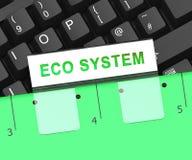 Digital Eco Wiedergabe der System-Daten-Interaktions-3d vektor abbildung
