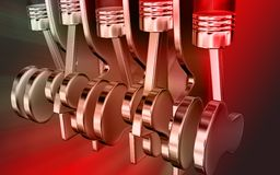 Digital effect of engines Royalty Free Stock Images