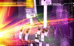 Digital-Effekt der Motoren stock abbildung
