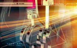 Digital-Effekt der Motoren lizenzfreie abbildung