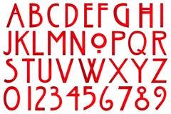 Digital-Einklebebuch-Alphabet-Horror-Geschichte stock abbildung