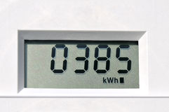 Digital electric meter Stock Photo