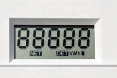 Digital electric meter Stock Images
