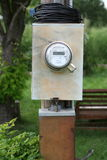 Digital electric meter Stock Photos