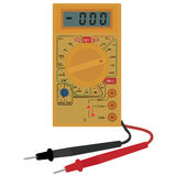 Digital electric multimeter Royalty Free Stock Photography