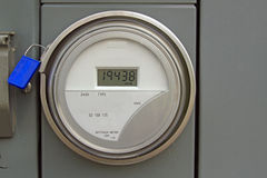 Digital Electric Power Meter Stock Photo