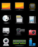 Digital Electrical Appliance Icon Set -- Premium S Royalty Free Stock Images