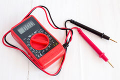 Digital electrical multimeter Royalty Free Stock Photography