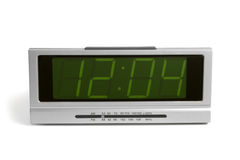 Digital electronic clock from radio Royalty Free Stock Photo