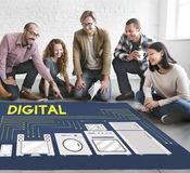 Digital Electronic Marketing Innovation Wireless Concept Stock Image