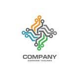 Digital electronics logo design Royalty Free Stock Image