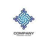 Digital electronics logo design. Creative electronic circuits logo vector, IT technology logo concept Stock Photography