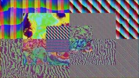 Digital elegant geometrical sci-fi shimmering background. Vhs glitch for creative use.