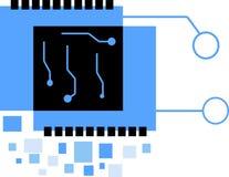 Digital elektronik Chip Logo Arkivfoto