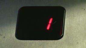 Digital elevator display stock video footage