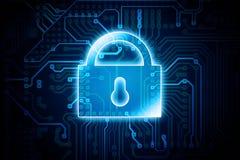 Digital Encryption Lock vector illustration