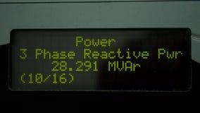 Digital energy meter stock video