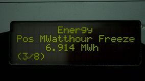 Digital energy meter stock video footage
