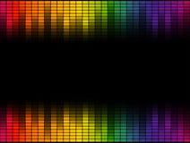 Digital-Entzerrerhintergrund bunt - endlos stock abbildung