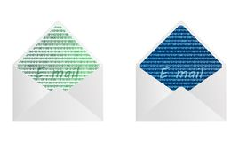 Digital envelope - cdr format Royalty Free Stock Photos