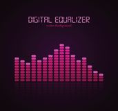 Digital Equalizer. Graphic Equalizer Display. Vector illustration for your artwork Royalty Free Stock Photography