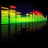 Digital equalizer Royalty Free Stock Images