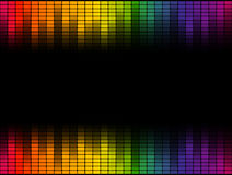 Digital equalizer background colorful - endlessly Royalty Free Stock Images