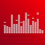 Digital equalizer background on red Stock Photo