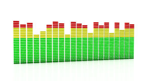 Digital equalizer in 3d Royalty Free Stock Image