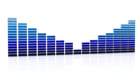Digital equalizer in 3d Royalty Free Stock Photography