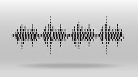 Digital equalizer sound wave abstract background. Digital equalizer sound wave abstract vector background Royalty Free Stock Photo