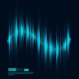 Digital equalizer. Sound wave. Vector illustration Stock Photography