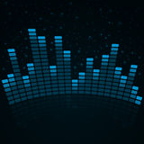 Digital equalizer with sparkles Stock Image