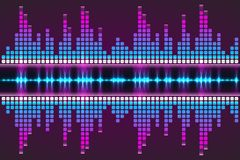 Digital music Equalizer. Vector illustration. Royalty Free Stock Photos